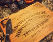 Ouija - Halloween Custom Laser Etched Bamboo Cutting Board, Knife Board, Personalized Cookware, Branded Barware