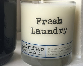 Fresh Laundry  Scented Soy Candle - 10 oz.