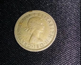 1962 Sixpence coin