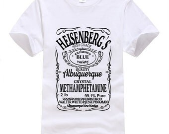 Heisenberg T-shirts UNISEX Swag Funny Cotton Short Sleeve Tshirts 2016 New Fashion