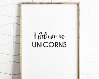 unicorn art, unicorn printable, fantasy art print, watercolor print, watercolor art decor, unicorn wall art, unicorn room decor