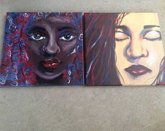 "Set of two 12x12"" Paintings"