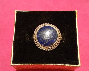 Vintage Silver and Lapis Ring