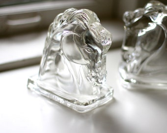 Glass Horse Book Ends