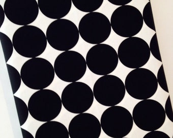 Disco Dot Retro Black and White Quilting Cotton Fabric. Fabric by the Yard. Yardage. 1/4 Yard Monochrome Polka Dot Dots Michael Miller