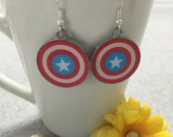 Avengers Captain America dangle earrings