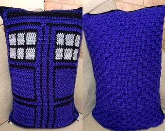 Tardis inspired decorative pillow/ cushion
