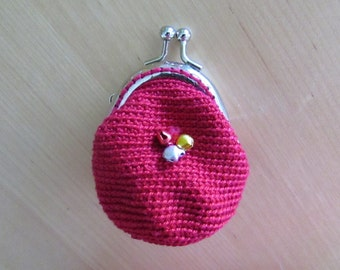 Coins Purse Lady Girl Red