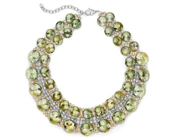 Pale Green Crystal Necklace