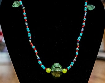 Multicolor Glass Bead Necklace