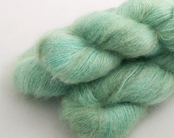 Seaglass on Adrift, 70 Kid Mohair 30 Silk, Lace weight yarn handdyed indie