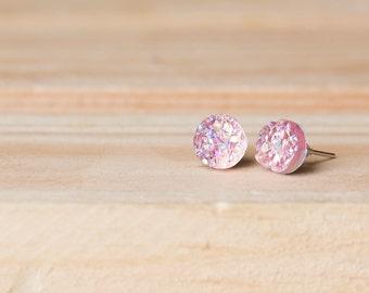 8mm Faux Druzy Earrings- BLAIR
