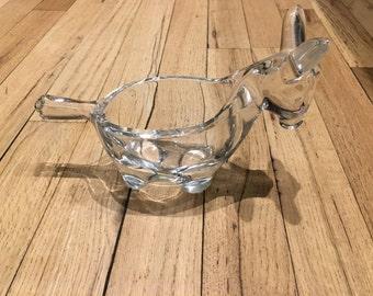 Glass Donkey Shaped Bowl