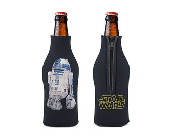 R2 D2 Zipper Style Beer Bottle Coozies / bottle beverage insulator , Cozies (KB-173)