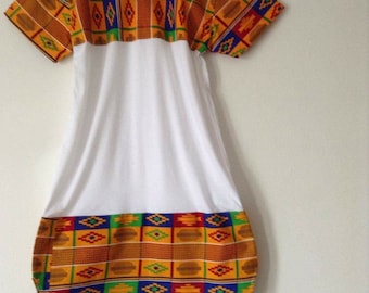 GoldenKente mini t-shirt dress 1or2