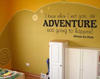 Winnie the Pooh Adventure large size vinyl wall decal