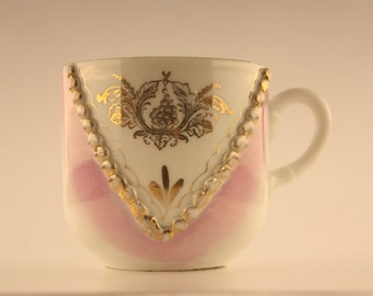 Antique Porcelain Mustache Cup