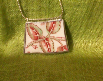 broken china pendant necklace