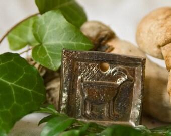 """Jewelry pendant earthenware """"Metalligoat"""" / handmade / piece"""