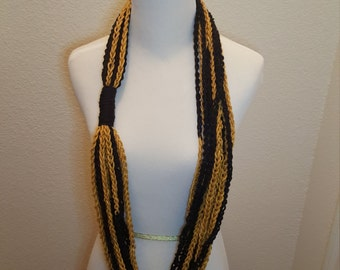 Black and Gold Rope Scarf