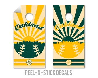 Oakland Baseball Cornhole Board Decals