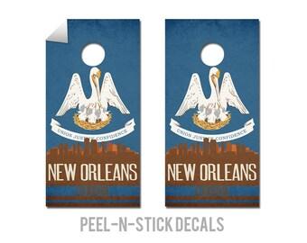 New Orleans State Flag Skyline Decals