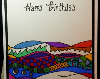 Birthday Card, Greeting Card, Handmade
