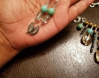 Beads n Feathers earrings