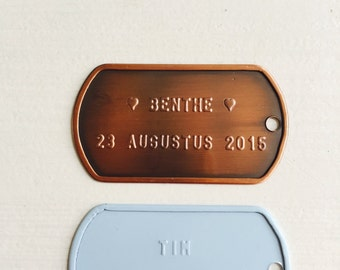 NAME & BIRTHDATE TAG