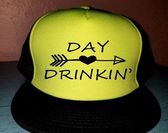 Day Drinkin' Trucker Hat Snapback Hat Custom Trucker Hat River Rat River Hat Lake Hat Havasu Life Summer Hat Adjustable Trucker Hat