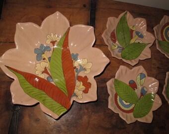 Vintage Tlaquepaque Mexican Pottery