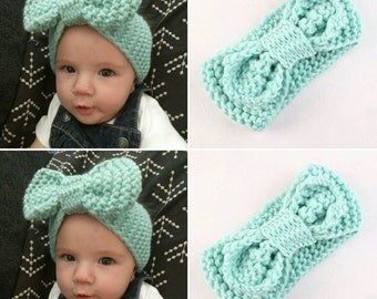 Baby toddler crochet knit headband earwarmer