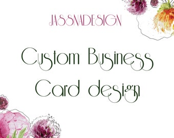 Custom business card - Custom calling card design