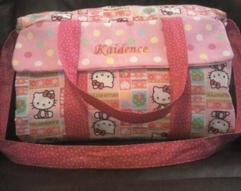 Personalized Girl's Diaper Bag