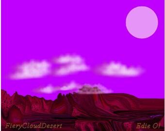Fiery Cloud Desert