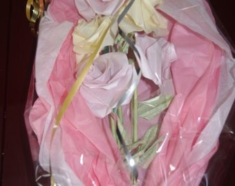 5 real ready to provide Origami roses bouquet