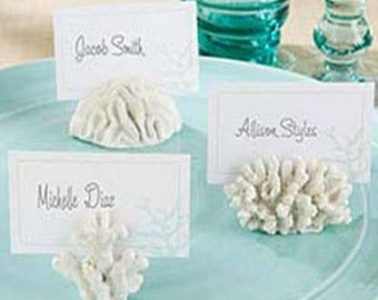 lot Seas Coral Beach Theme Place Card Holders Wedding Favors