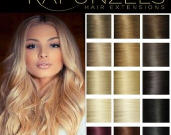 "20"" micro loop, easy loop, micro link hair extensions, human remy hair 25 strands 1 gram - Choose colour"