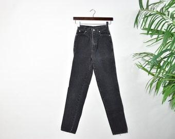 Vintage JORDACHE Black High Waisted Jeans