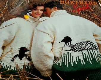 1990s Patons Canada #1254 Northern Spirit Vol. 2 Knitting Pattern Book