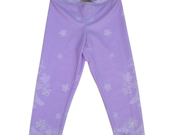 Lace Icing With Sprinkles girls leggings  lilac