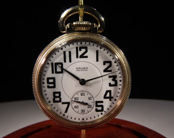 Circa. 1940 Gruen Precision 17 Jewel Pocket Watch