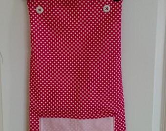 Ladies Pink Reversible Apron