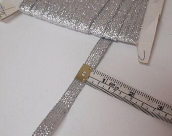 Silver glitter ribbon / trim 1cm