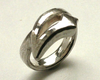 """""""Capricorn"""", 925, cast sterling silver ring."""
