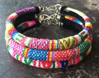 Peruvian Textile Bangle Bracelets