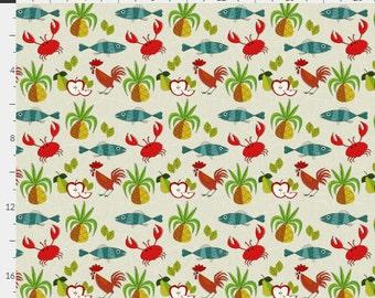 Retro Styled Kitchen Print Tea Towel