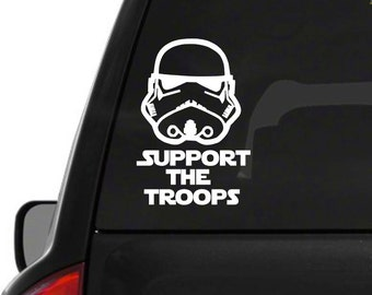 Support the troops decal
