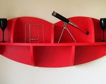 Unusual Modern 4ft Lips / Pout Shaped Shelf / Novelty / Shelving