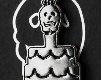 Rotten Cake 1.0 Pin - Silver